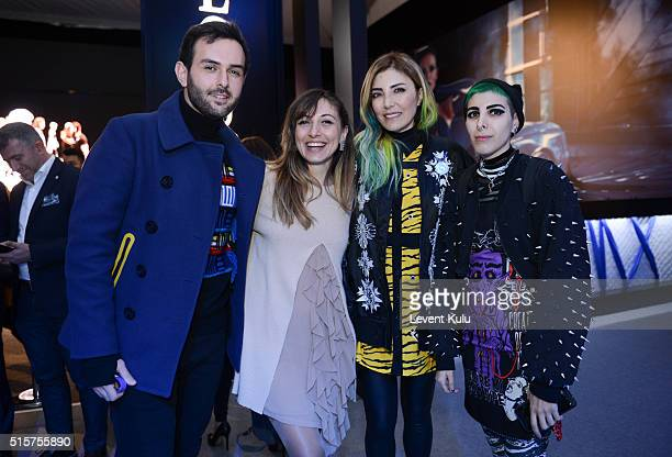Nilay Ornek Deniz Berdan and guests attend the Bora Aksu show during the MercedesBenz Fashion Week Istanbul Autumn/Winter 2016 at Zorlu Center on...