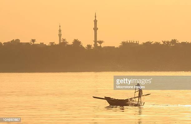 Nile fishermen in Luxor, Egypt