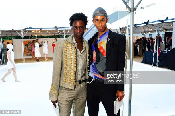 Nile Harris and Miles Greenberg attend Tabula Rasa, The 26th annual Watermill Center Benefit & Auction at The Watermill Center on July 27, 2019 in...