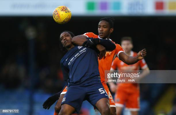 Nile Ranger of Southend United and Omar Beckles of Shrewsbury Town during the Sky Bet League One match between Southend United and Shrewsbury Town at...