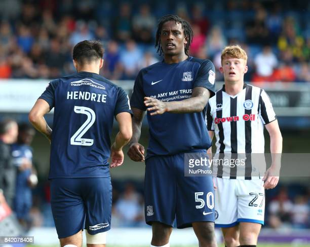 Nile Ranger of Southend United during Sky Bet League one match between Southend United against Rochdale at Roots Hall Southend on Sea England on 02...