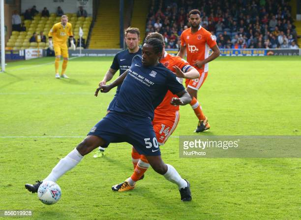 Nile Ranger of Southend United during Sky Bet League one match between Southend United against Blackpool at Roots Hall Southend on Sea England on 30...