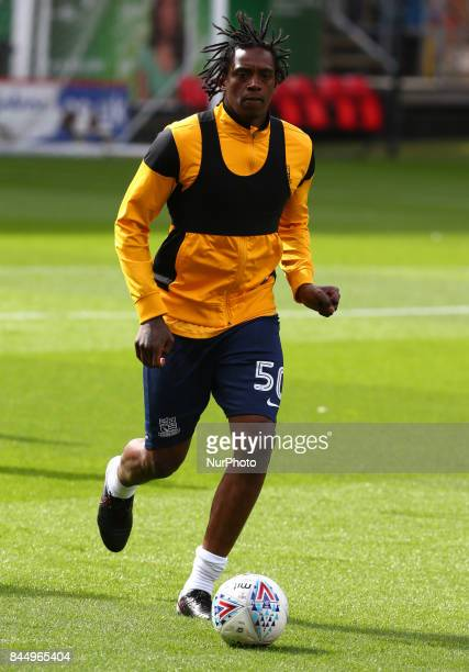 Nile Ranger of Southend United during the prematch warmup during Sky Bet League One match between Charlton Athletic against Southend United at The...