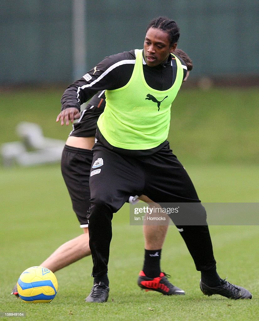 Nile Ranger takes part in a Newcastle United Training at The Little Benton training ground on January 04, 2013 in Newcastle upon Tyne, England.