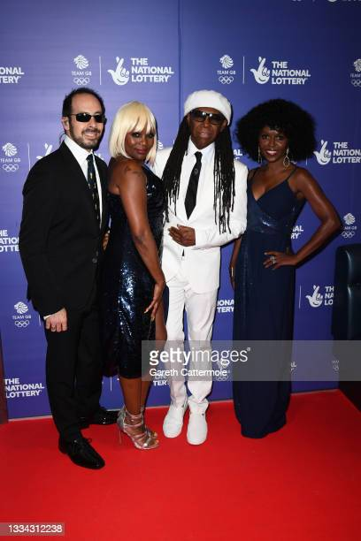 Nile Rodgers and guests during The National Lottery's Team GB homecoming event at the SSE Arena Wembley on August 15, 2021 in London, England.