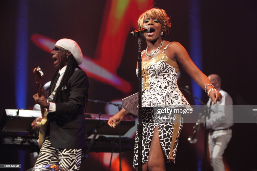 Nile Rodgers And Kimberly Davis Of Chic Perform On Stage On Day 14