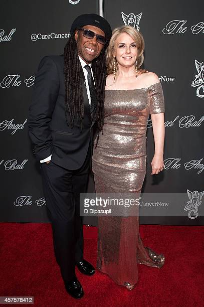 Nile Rodgers and Nancy Hunt attend the 2014 Angel Ball at Cipriani Wall Street on October 20 2014 in New York City