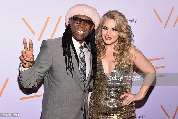 Nile Rodgers and Nancy Hunt attend the We Are Family Foundation 2016 celebration gala at Hammerstein Ballroom on April 29, 2016 in New York City.