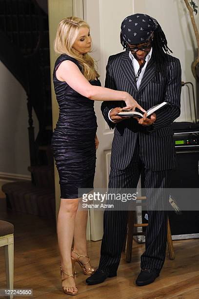 Nile Rodgers and Nancy Hunt attends an Intimate Evening with him hosted by Susan and David Rockefeller on September 26 2011 in New York City
