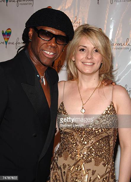 Nile Rodgers and Nancy Hunt President of We Are Family Foundation at the Hammerstein Ballroom in New York City New York