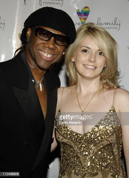 Nile Rodgers and Nancy Hunt President of We Are Family Foundation