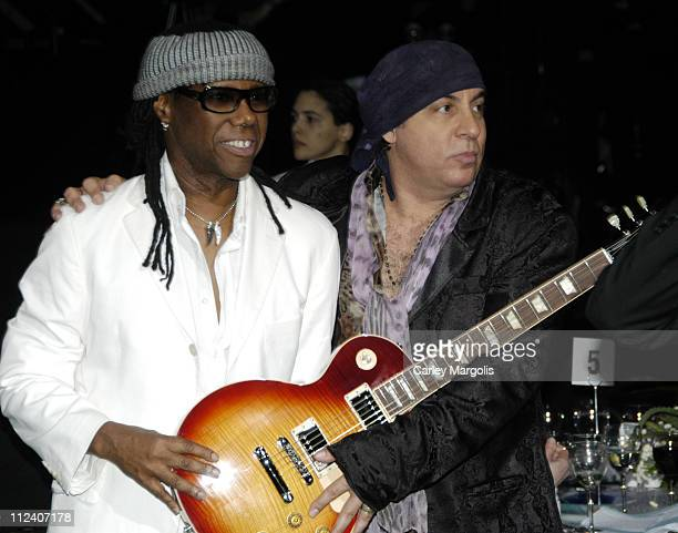 Nile Rodgers and Steven Van Zandt during We Are Family Foundation To Honor Sir Elton John Quincy Jones Tommy Hilfiger and The Comcast Family of...