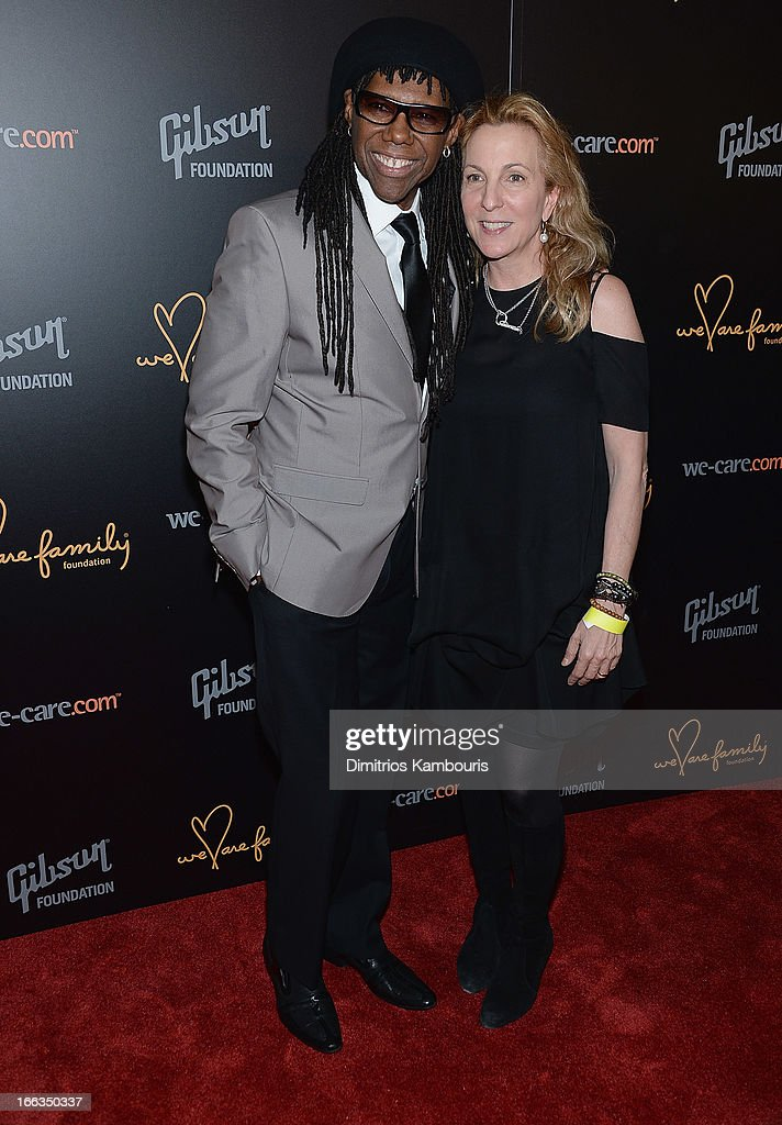 Nile Rodgers and Susan Rockefeller attend the 0213 We Are Family Honors Gala at Manhattan Center Grand Ballroom on April 11, 2013 in New York City.