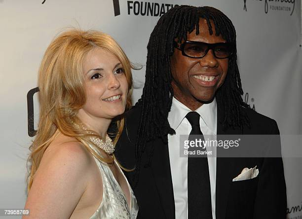Nile Rodgers and wife Nancy Hunt arrive to the fifth annual We Are Family Celebration Gala at the Hammerstein Ballroom on April 23 2007 in New York...