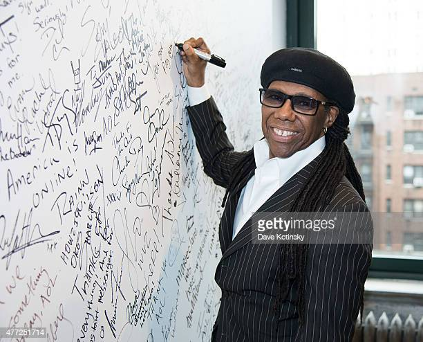 Nile Rodgers attends AOL BUILD Speaker Series to dicuss the Freak Out Festival at AOL Studios on June 15 2015 in New York City