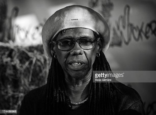 Nile Rodgers backstage at The Wickerman festival on July 26 2013 in Dundrennan Scotland