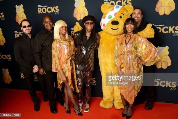LONDON ENGLAND NOVEMBER 07 Nile Rodgers CHIC at The SSE Arena Wembley during filming for Children in Need Rocks 2018 airing on BBC One on November...