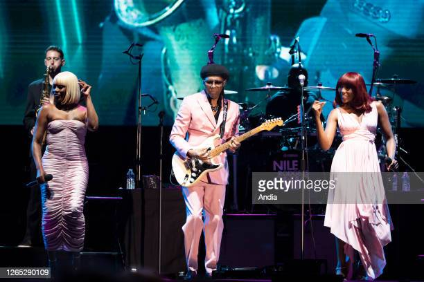 Nile Rodgers & Chic in concert at the Nice Jazz Festival on July 16, 2019.