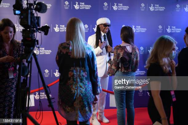 Nile Rodgers during The National Lottery's Team GB homecoming event at the SSE Arena Wembley on August 15, 2021 in London, England.
