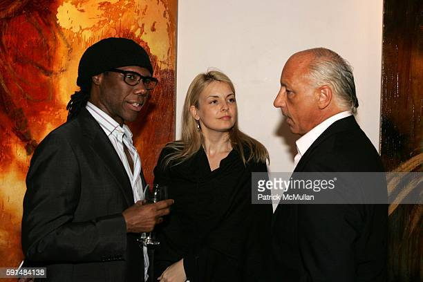 Nile Rodgers Nancy Hunt and Tod Volpe attend Rites of Passage Exhibit of the Paintings of Samantha Keely Smith to Benefit the Montel Williams MS...