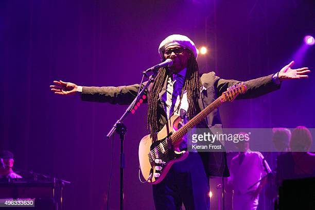 Nile Rodgers of Chic featuring Nile Rodgers performs at Metropolis Festival at RDS Concert Hall on November 8 2015 in Dublin Ireland