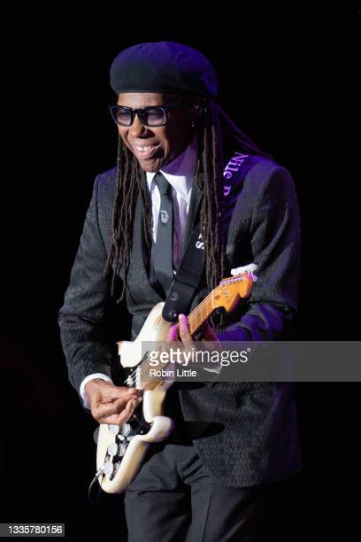 Nile Rodgers of Chic performs during Hampton Court Palace Festival 2021 at Hampton Court Palace on August 22, 2021 in London, England.