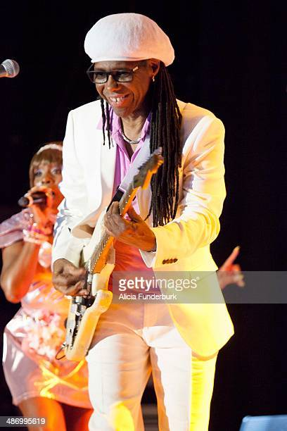 Nile Rodgers of Chic performs during Moogfest 2014 on April 26, 2014 in Asheville, North Carolina.