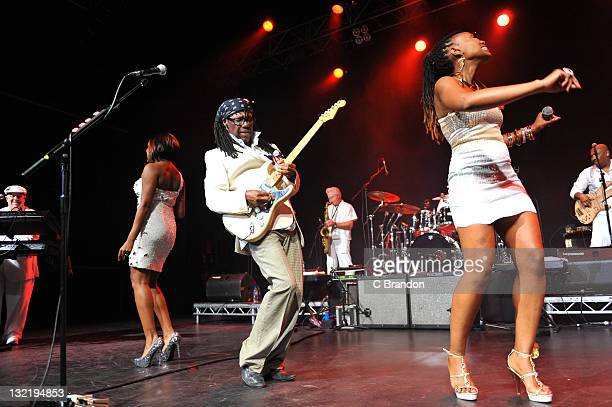 Nile Rodgers of Chic performs on stage at HMV Forum on November 10 2011 in London United Kingdom