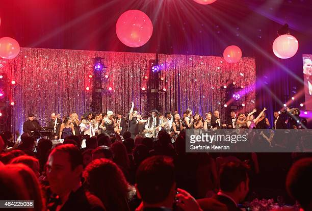 Nile Rodgers of Chic performs onstage during the 23rd Annual Elton John AIDS Foundation Academy Awards viewing party with Chopard on February 22 2015...