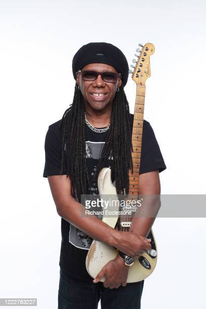 Nile Rodgers of Chic pictured with his 1959 Fender Stratocaster nicknamed 'The Hitmaker', United Kingdom, 2014.