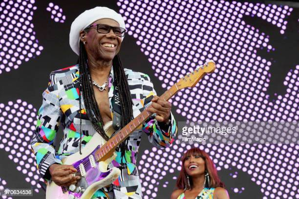 Nile Rodgers performs on What Stage during day 3 of the 2018 Bonnaroo Arts And Music Festival on June 9 2018 in Manchester Tennessee