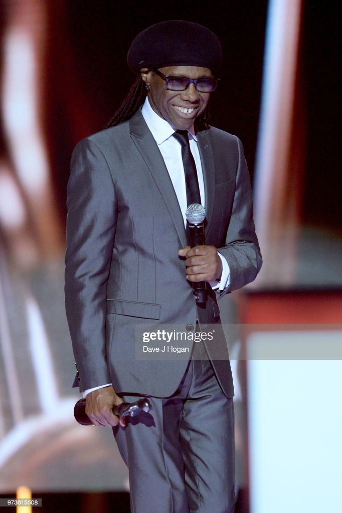 Nile Rodgers presents the CriticsÕ Choice Award during the 2018 Classic BRIT Awards held at Royal Albert Hall on June 13, 2018 in London, England.