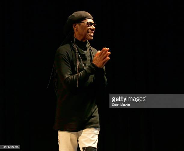 Nile Rodgers walks onstage at Music Business 101 A QA with Legendary Music Icon Nile Rodgers during SXSW at Austin Convention Center on March 14 2018...