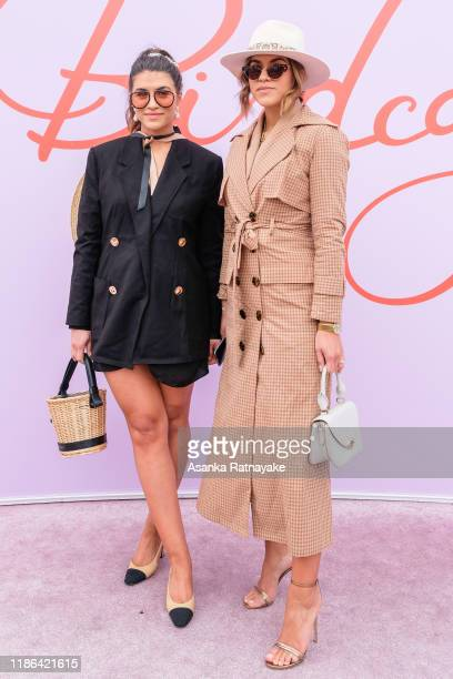 Nile Sohtra and Marissa Sohtra attends Stakes Day at Flemington Racecourse on November 09 2019 in Melbourne Australia