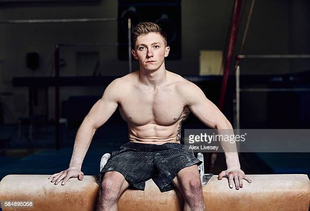 Nile Wilson of the British Gymnastics Team poses for a portrait during a training session at Lilleshall National Sports Centre on July 12 2016 in...