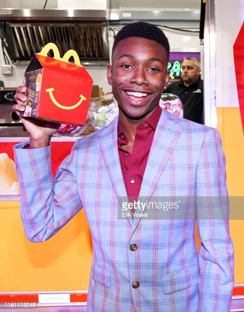 Niles Fitch is seen as McDonald's brings Happy Meals and Festive Moments to The Lion King Premiere After Party at Dolby Theatre on July 09 2019 in...