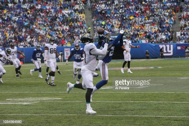 Niles Paul of the Jacksonville Jaguars in action against the New York Giants at MetLife Stadium on September 9 2018 in East Rutherford New Jersey