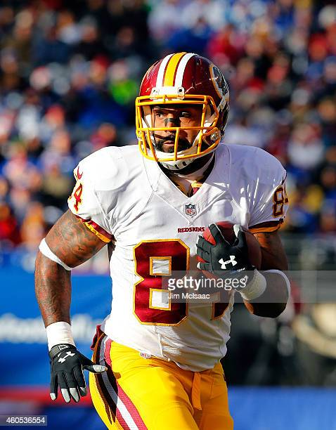 Niles Paul of the Washington Redskins in action against the New York Giants on December 14 2014 at MetLife Stadium in East Rutherford New Jersey The...