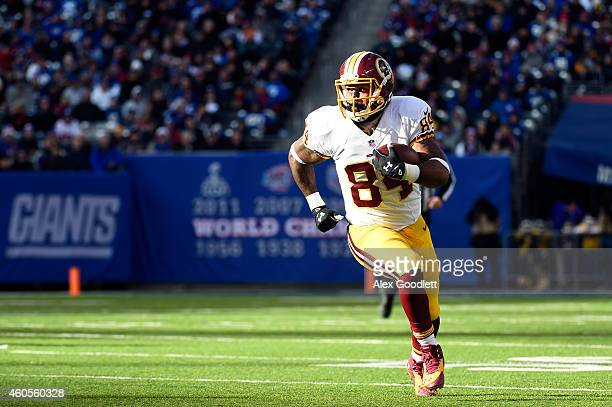 Niles Paul of the Washington Redskins in action against the New York Giants during their game at MetLife Stadium on December 14 2014 in East...