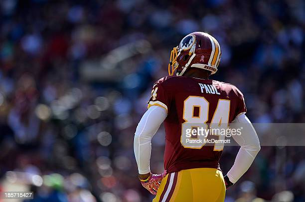 Niles Paul of the Washington Redskins in action in the first half during an NFL game Chicago Bears at FedExField on October 20 2013 in Landover...