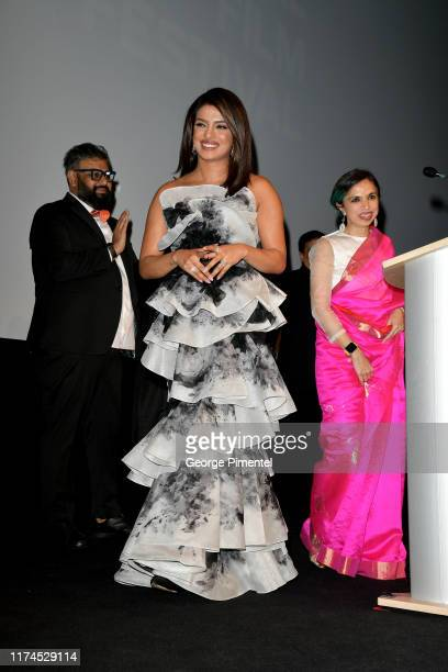 Nilesh Maniyar Priyanka Chopra Jonas and Shonali Bose attend The Sky Is Pink premiere during the 2019 Toronto International Film Festival at Roy...
