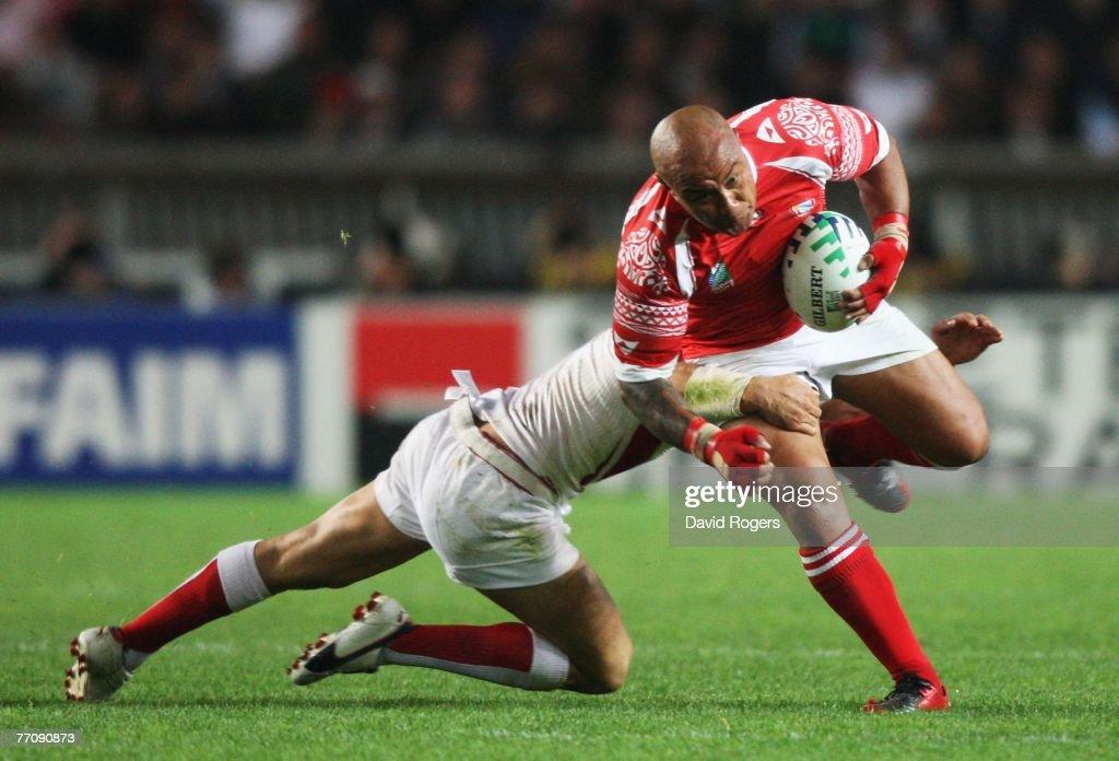 England v Tonga - IRB RWC 2007 Match Thirty Three : News Photo