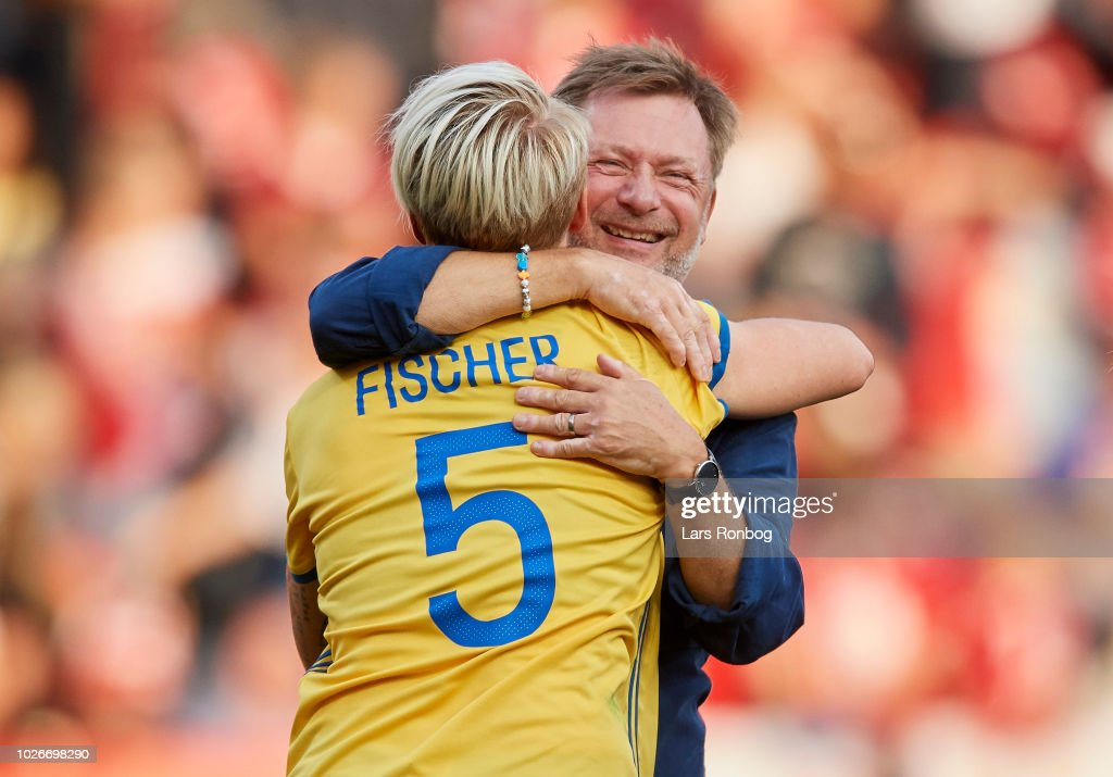 Denmark vs Sweden - FIFA Womens World Cup Qualifier : News Photo