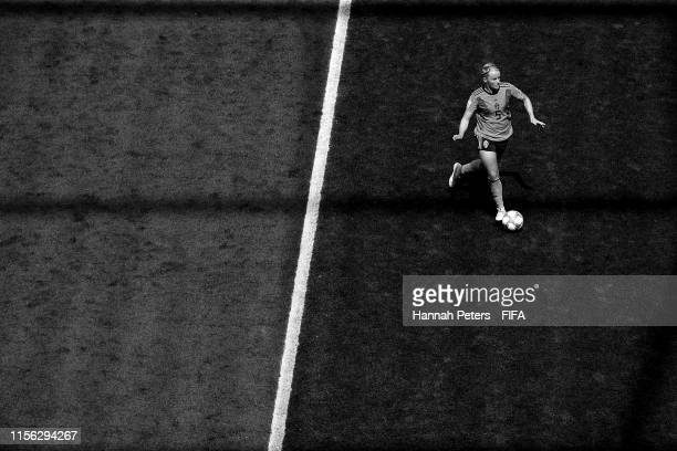 Nilla Fischer of Sweden passes the ball during the 2019 FIFA Women's World Cup France group F match between Sweden and Thailand at Stade de Nice on...
