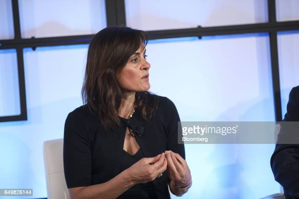 Niloofar Niloo Howe senior vice president and chief strategy officer of RSA Secruity LLC speaks during the Montgomery Summit in Santa Monica...