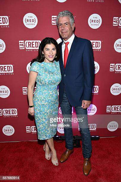 Nilou Motamed and Chef Anthony Bourdain attend The Supper hosted by Mario Batali with Anthony Bourdain on June 2 2016 in New York City