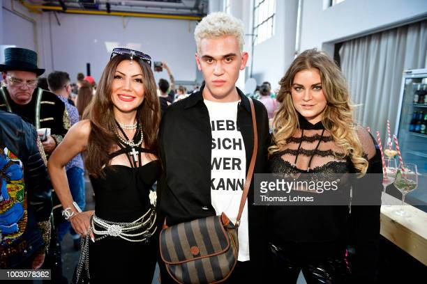 Niloufar Baedrich Emil Winter and Christina Braun attend the Fashionyard show during Platform Fashion July 2018 at Areal Boehler on July 21 2018 in...