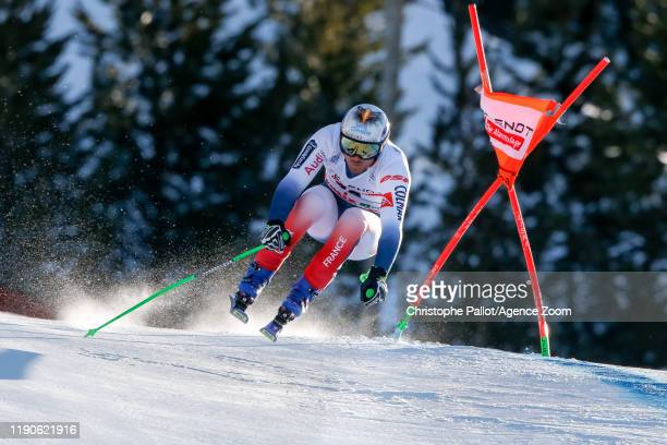 Nils Allegre of France competes during the Audi FIS Alpine Ski World Cup Men's Downhill on December 28, 2019 in Bormio Italy.