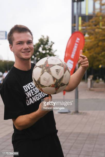"""Nils Effinghausen attends the launch event for Insight TV's new show """"Streetkings in Jail"""" on September 17, 2019 in Munich, Germany."""