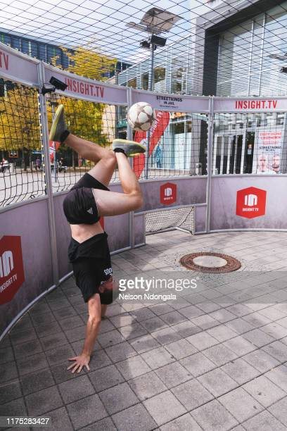 """Nils Effinghausen performs during the launch event for Insight TV's new show """"Streetkings in Jail"""" on September 17, 2019 in Munich, Germany."""